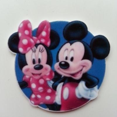 Cabochon plat en résine minnie mickey 42*50mm