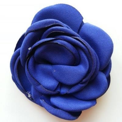 fleur satin de soie 50mm bleu royal