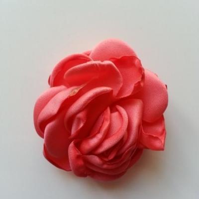 fleur satin de soie 50mm saumon