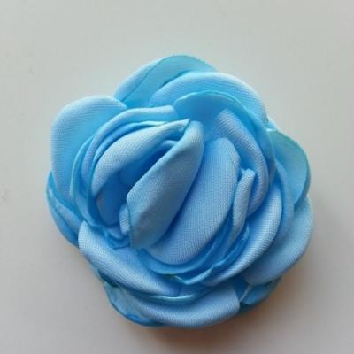 fleur satin de soie 50mm bleu ciel