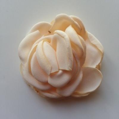 fleur satin de soie 50mm ivoire foncé