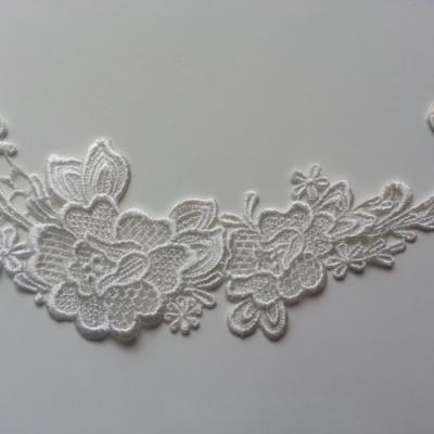applique dentelle  collier blanc 19,5*9,9cm