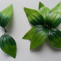Double feuille artificielle verte
