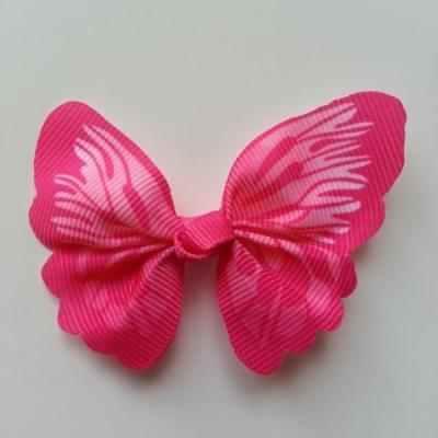 Noeud en tissu imitation papillon 57*52mm rose