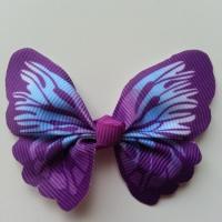 Noeud en tissu imitation papillon 57*52mm mauve et violet