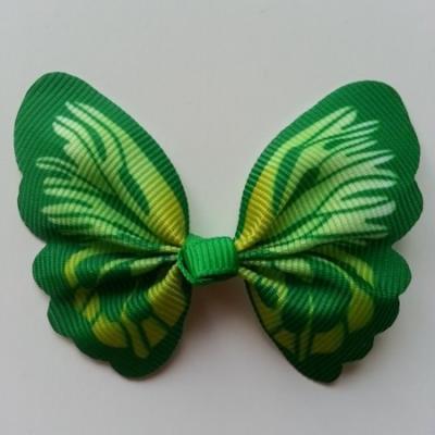 Noeud en tissu imitation papillon 57*52mm vert