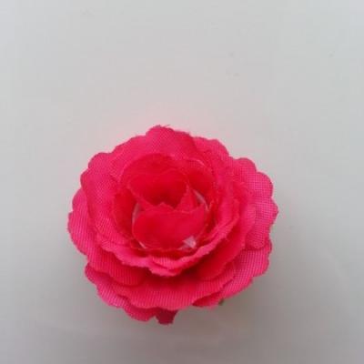 fleur en tissu 35mm rose fuchsia