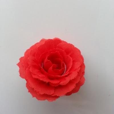 fleur en tissu 35mm rouge