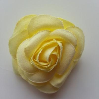 fleur en tissu jaune 50mm