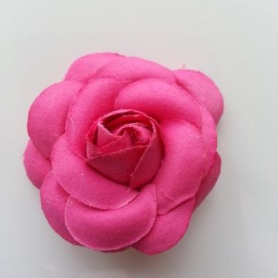 fleur en tissu rose fuchsia  50mm