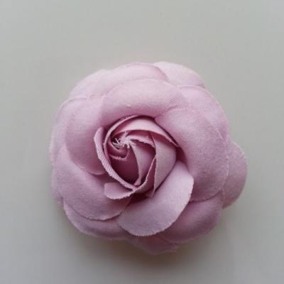 fleur en tissu vieux rose 50mm