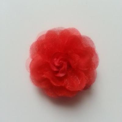 Fleur  en tissu rouge  45mm