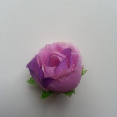 fleur en tissu violet 30mm