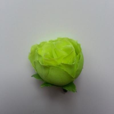 fleur en tissu vert 30mm