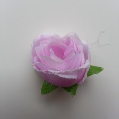 fleur en tissu mauve 30mm