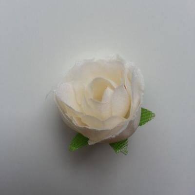 fleur en tissu ivoire 30mm