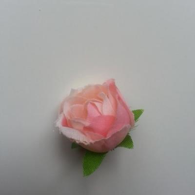 fleur en tissu rose peche 30mm