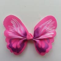 Noeud en tissu imitation papillon 57*52mm rose et violet