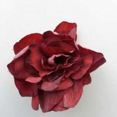 fleur tissu pivoine bordeaux 50mm
