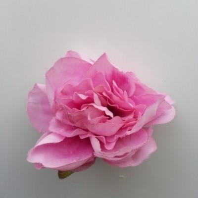 fleur tissu pivoine rose 50mm