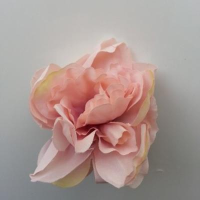 fleur tissu pivoine peche 50mm