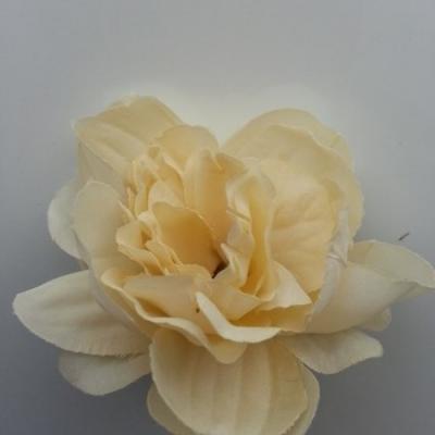 fleur tissu pivoine ivoire 50mm