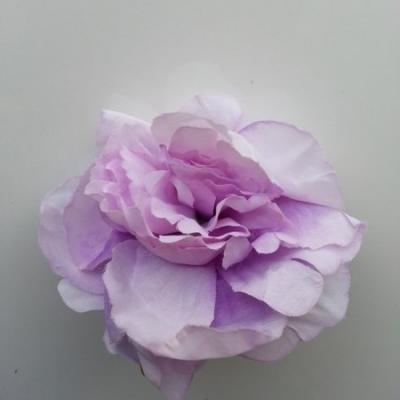 fleur tissu pivoine mauve 50mm