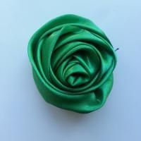 fleur satin 50mm vert foncé