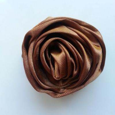 fleur satin 50mm marron