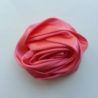 fleur satin 50mm rose saumon
