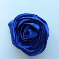 fleur satin 50mm bleu royal