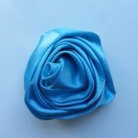 fleur satin 50mm bleu turquoise