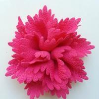 fleur en tissu rose fuchsia  80mm