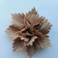 fleur en tissu beige 80mm