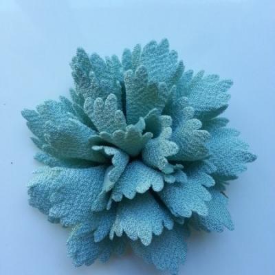fleur en tissu vert 80mm