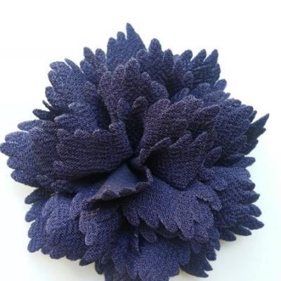 fleur en tissu bleu marine 80mm