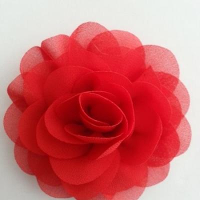fleur de pavot en mousseline 80mm rouge