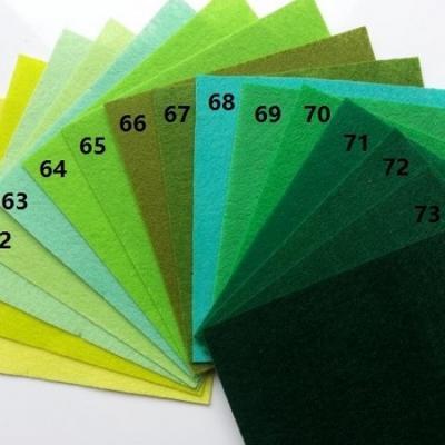 Feuille de feutrine unie 15 cm *15cm vert N65