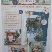 bloc de 12 cartes prédécoupées motif noel 'royal christmas