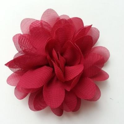 fleur mousseline bordeaux  60mm