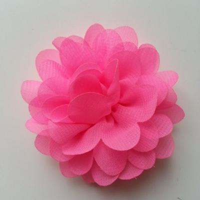 fleur mousseline rose bonbon  60mm