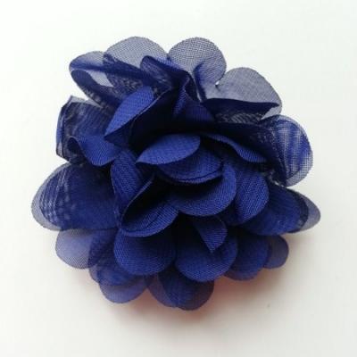 fleur mousseline bleu marine  60mm