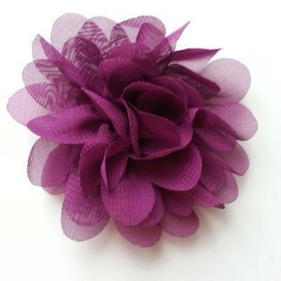 fleur mousseline prune 60mm