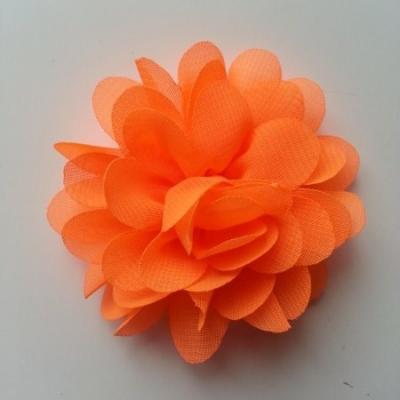 fleur mousseline orange 60mm