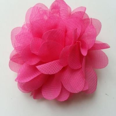 fleur mousseline rose fuchsia  60mm
