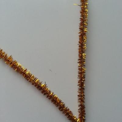 Tige de fil chenille cure pipe 0.6*30cm doré, or