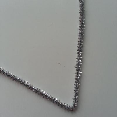 Tige de fil chenille cure pipe 0.6*30cm argent