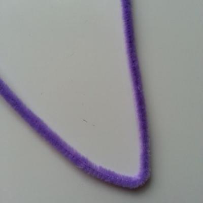 Tige de fil chenille cure pipe 0.6*30cm mauve