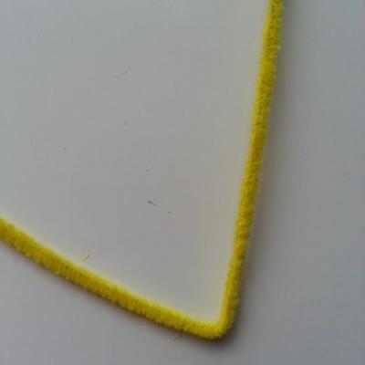 Tige de fil chenille cure pipe 0.6*30cm jaune poussin