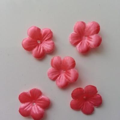 Lot de 5 fleurs en tissu  20mm rose saumon